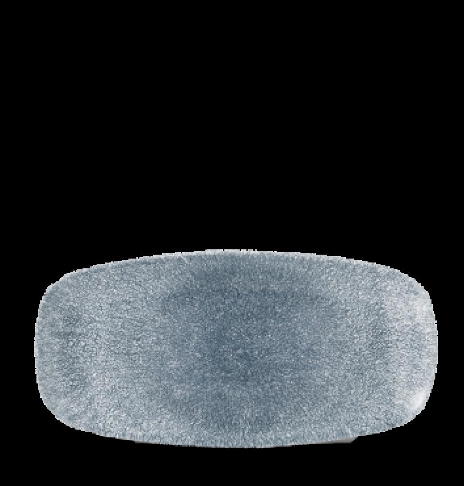 Platou dreptunghiular, portelan super-vitrifiat de culoare Topaz Blue glazurat pe toata suprafata, dimensiuni 269x127mm