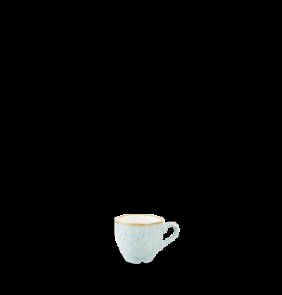 Ceasca espresso, portelan super-vitrifiat de culoare Duck Egg Blue glazurat pe toata suprafata, decorat manual, capacitate 100ml
