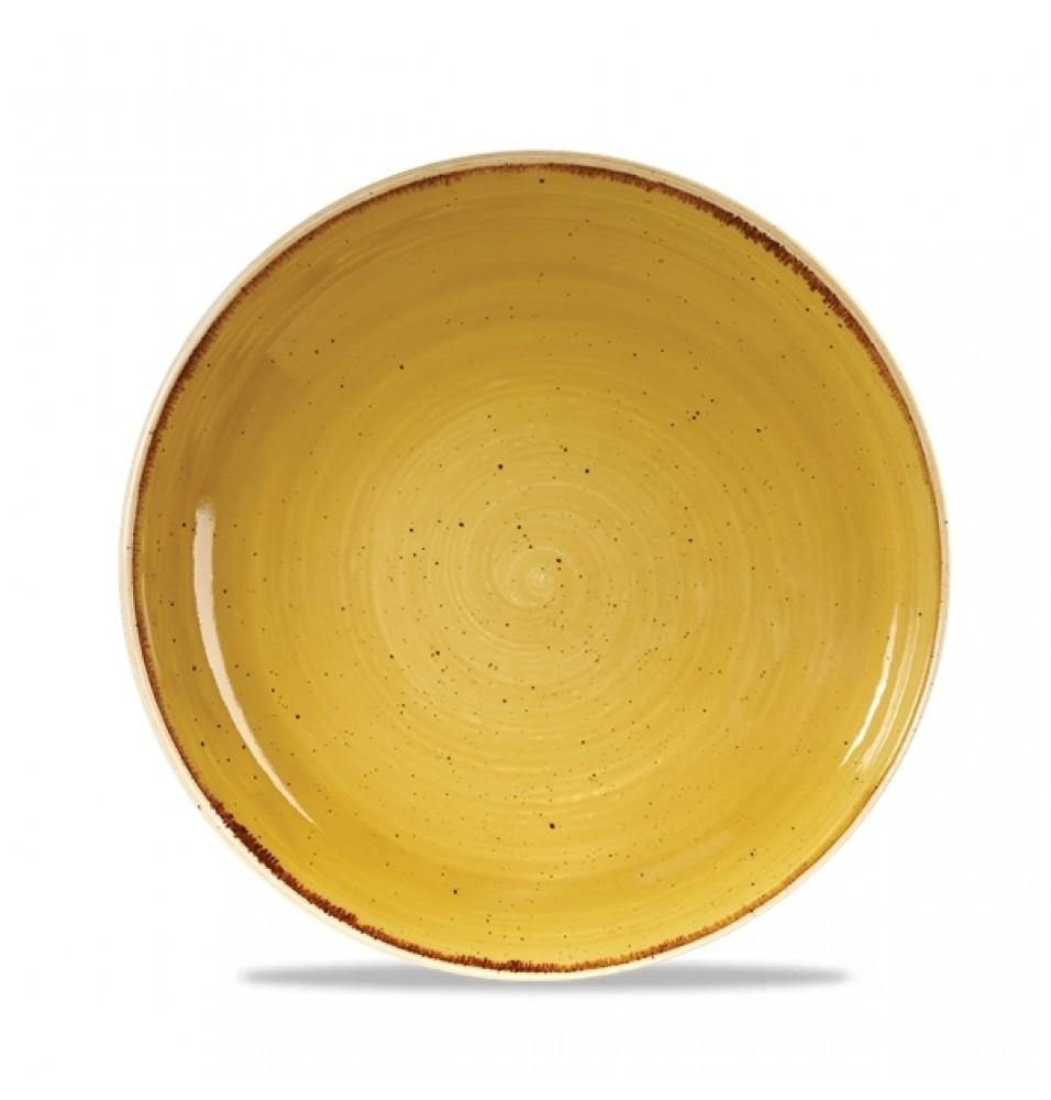 Bol rotund, portelan super-vitrifiat de culoare Mustard Seed Yellow glazurat pe toata suprafata, capacitate 1136ml