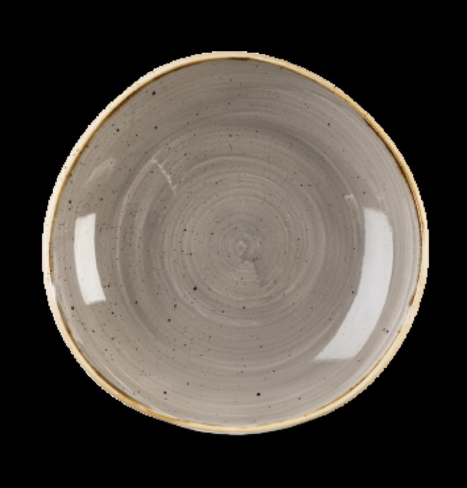 Bol rotund, portelan super-vitrifiat de culoare Peppercorn Grey glazurat pe toata suprafata, capacitate 1100ml