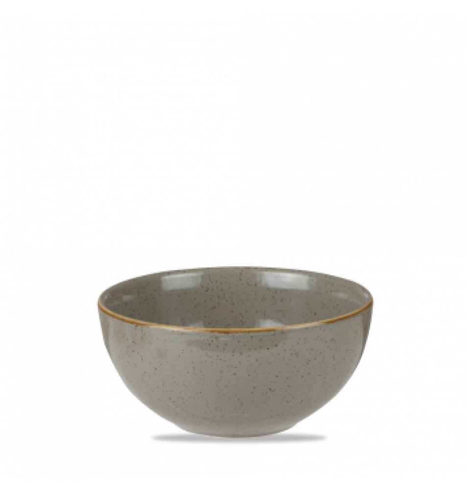 Bol rotund, portelan super-vitrifiat de culoare Peppercorn Grey glazurat pe toata suprafata, decorat manual, diametru 132 mm
