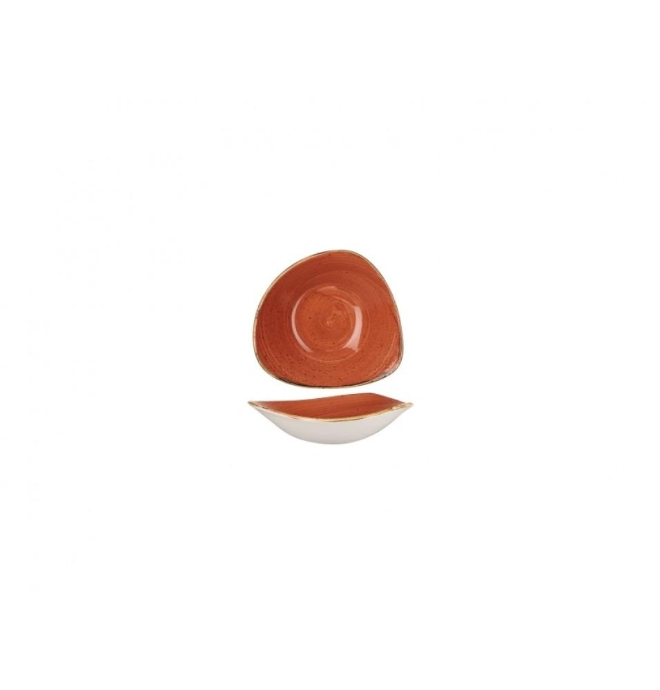 Bol triunghiular, portelan super-vitrifiat de culoare Spiced Orange glazurat pe toata suprafata, capacitate 600ml