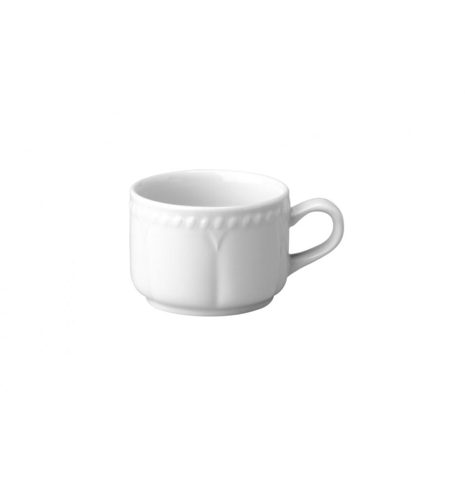 Ceasca pentru cafea, capacitate 180ml, din portelan super-vitrifiat, culoare alba