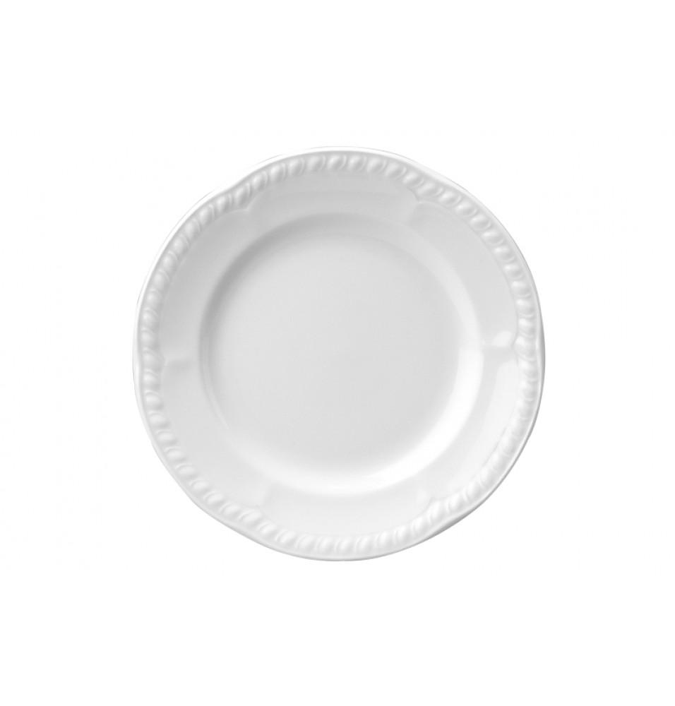 Farfurie rotunda, portelan, diametru 185mm