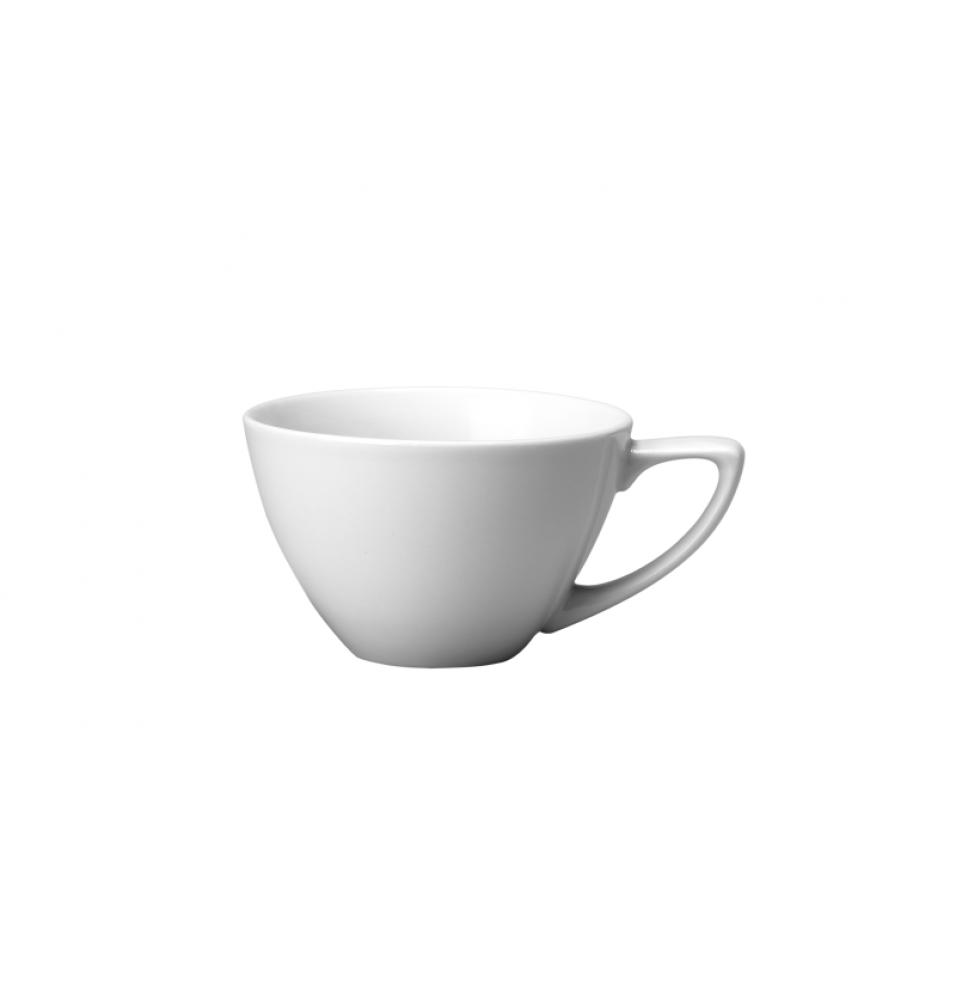 Ceasca pentru caffe latte,capacitate 284ml, din portelan super vitrifiat de culoare alba