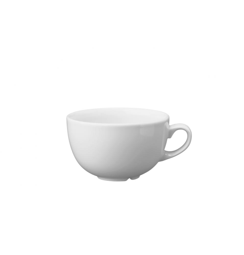 Ceasca pentru cappuccino, capacitate 280ml, din portelan super-vitrifiat de culoare alba