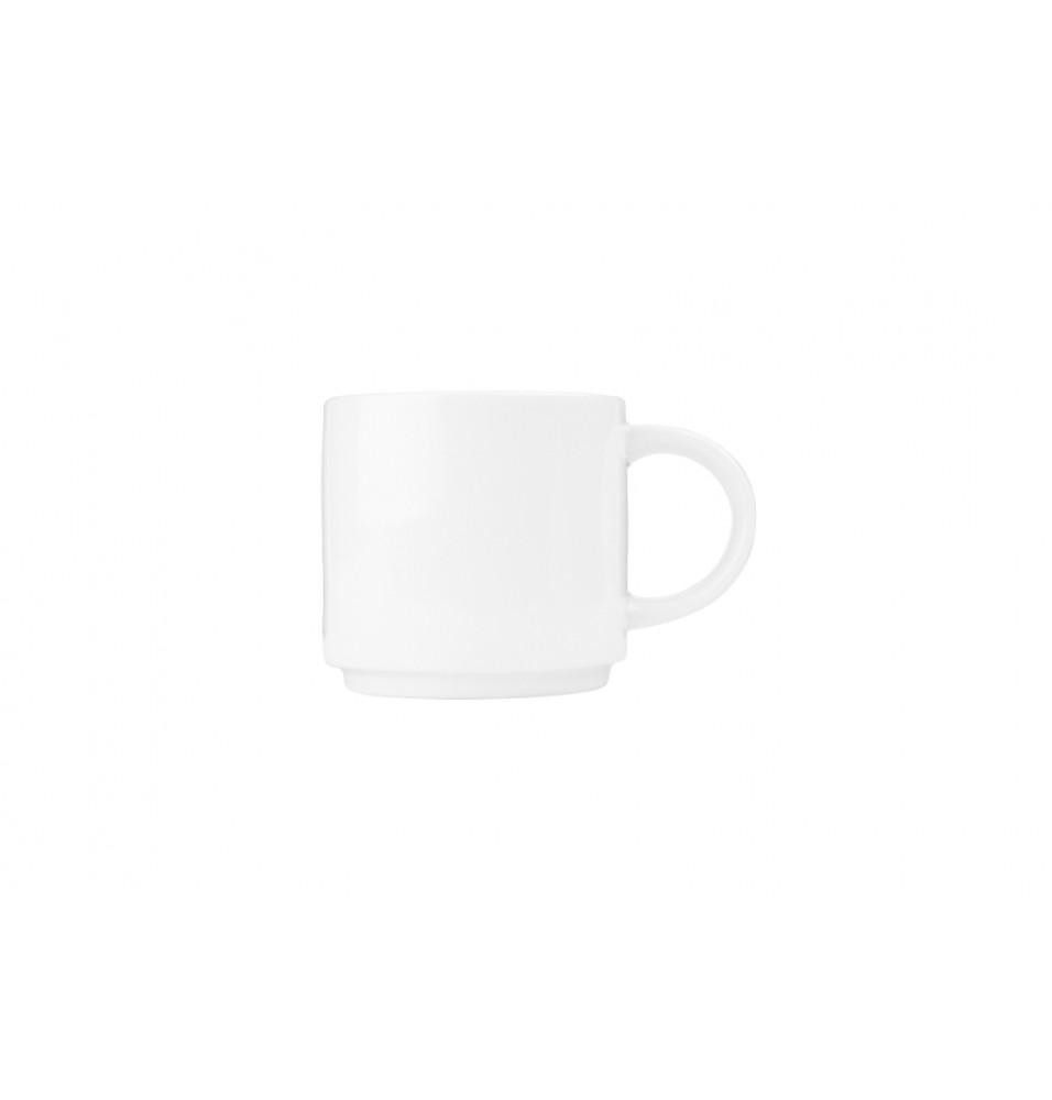 Ceasca pentru ceai, capacitate 213ml, din portelan super-vitrifiat de culoare alba