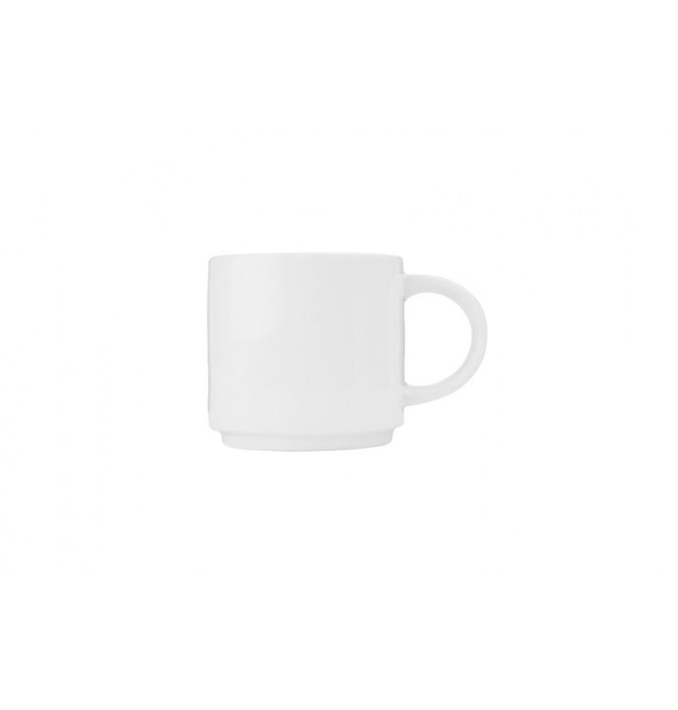 Ceasca pentru cafea, capacitate 284ml, din portelan super-vitrifiat de culoare alba