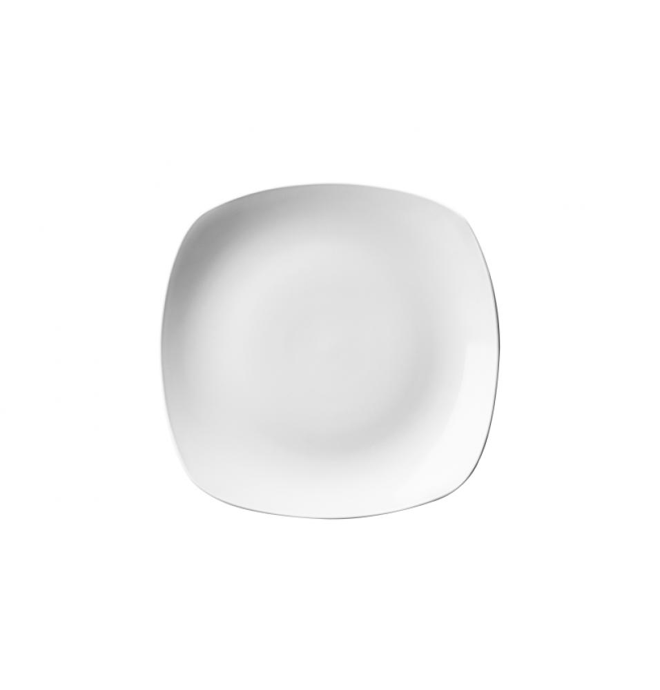 Farfurie plata patrata, portelan, dimensiuni: 170x170mm