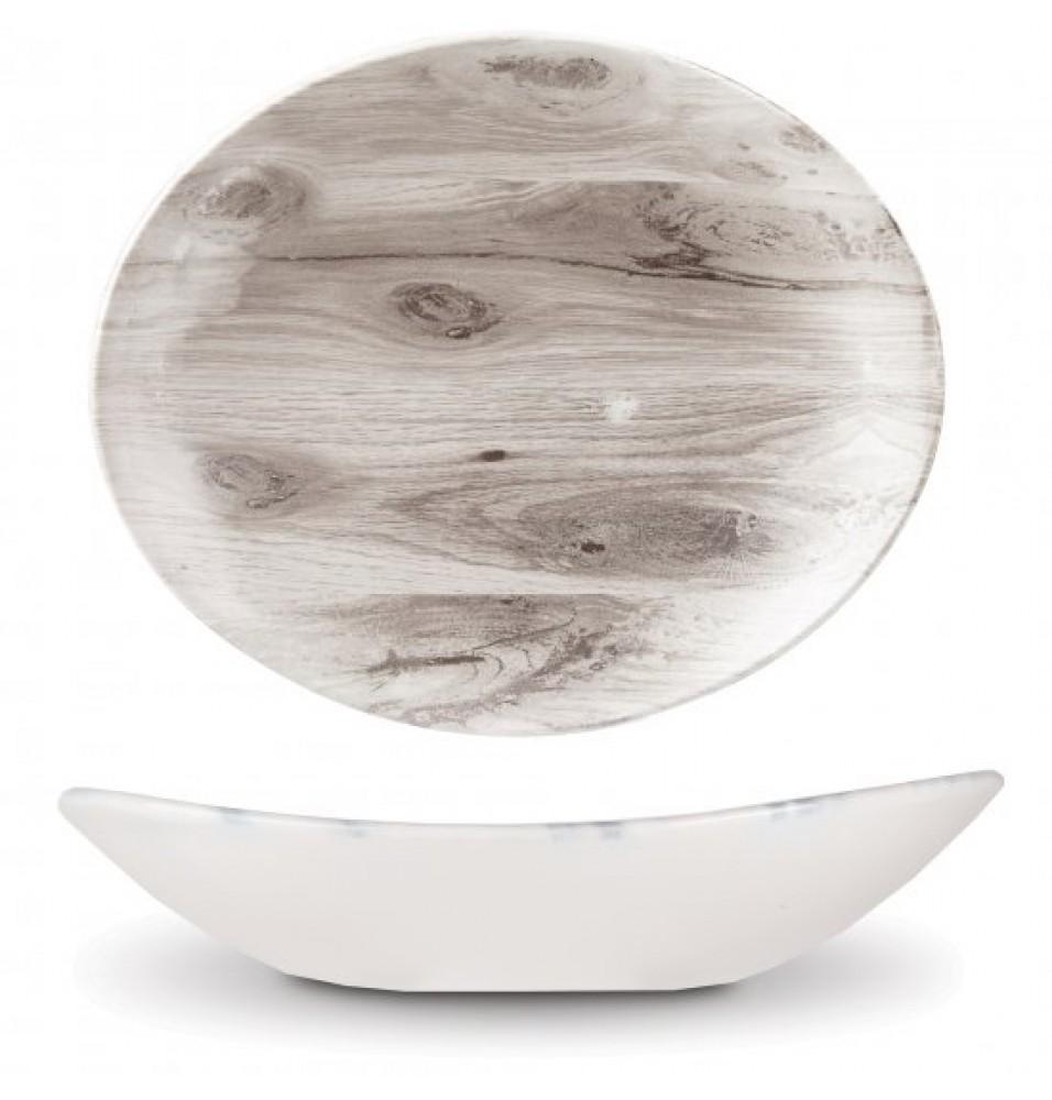 Platou oval dimensiuni 31.7x25.4 cm, decor Sepia Wood