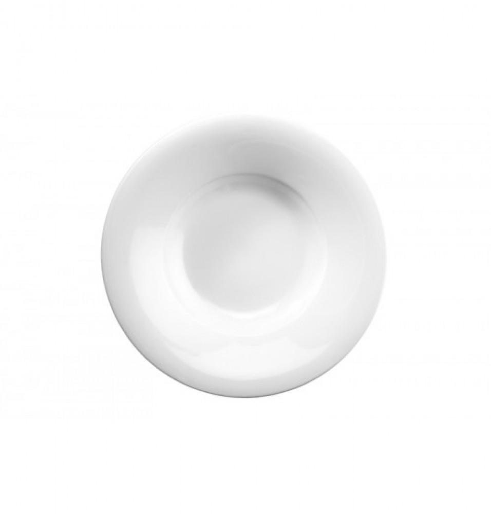 Farfurie rotunda pentru paste, portelan, capacitate 280 ml
