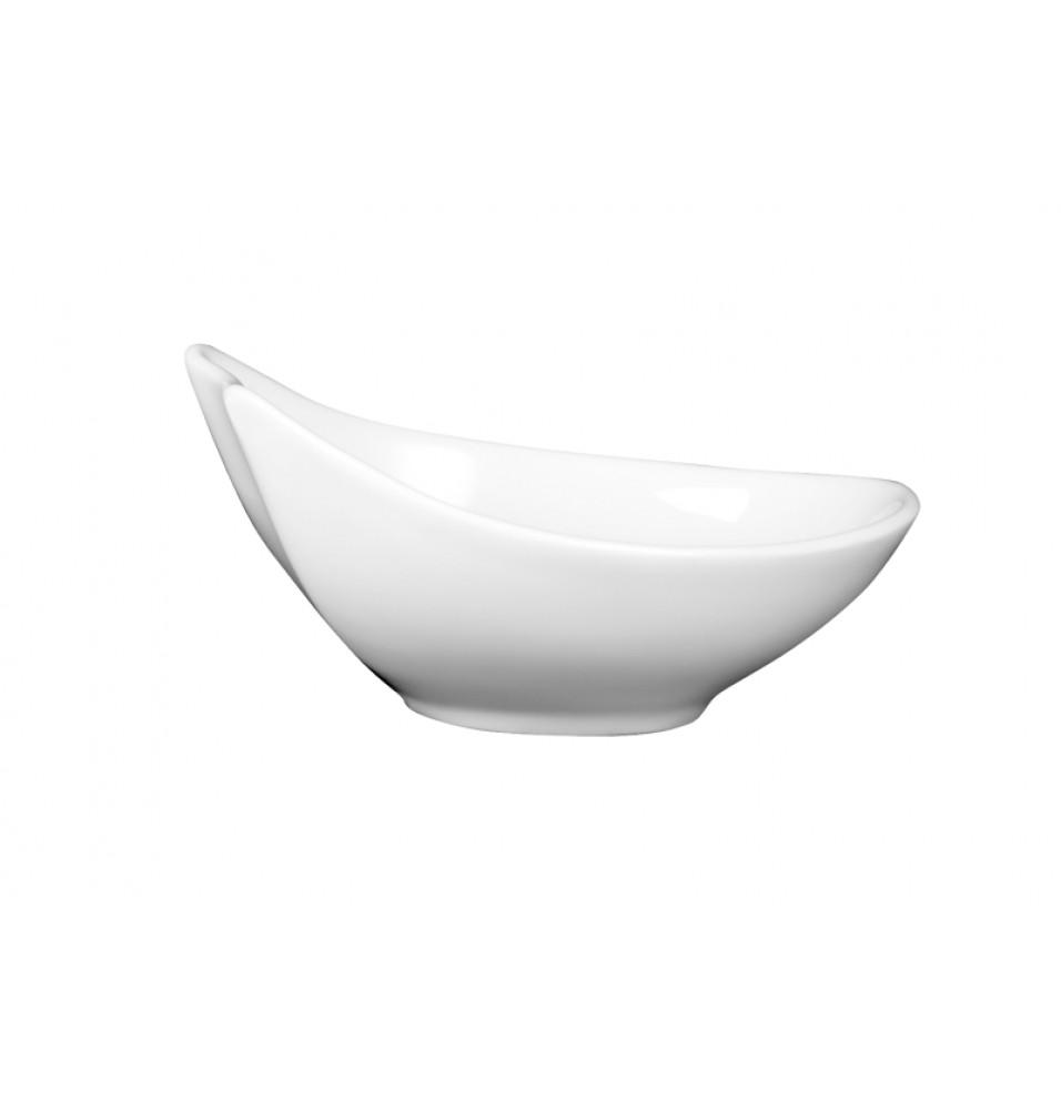 Castron, oval, portelan, dimensiuni 150x130x70mm, alb