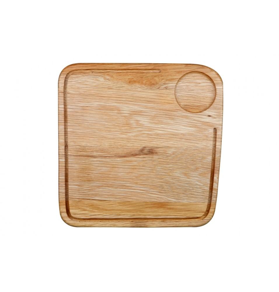 Blat suport, cu colturi rotunjite, din lemn lacuit de culoare natur