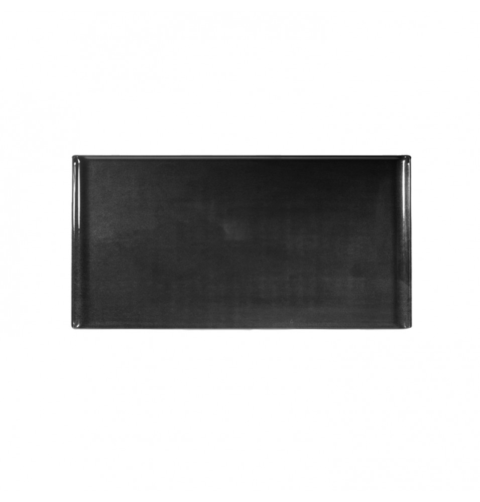 Platou rectangular, din melamina, culoare neagra