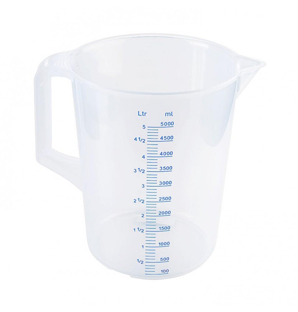 Cana gradata,  capacitate 5 litri, din polipropilena -grosime 1.9