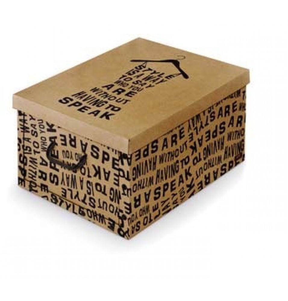 "Cutie depozitare ""Kraft"", cu manere, dimensiuni 390x500x240mm, fabricata din carton"