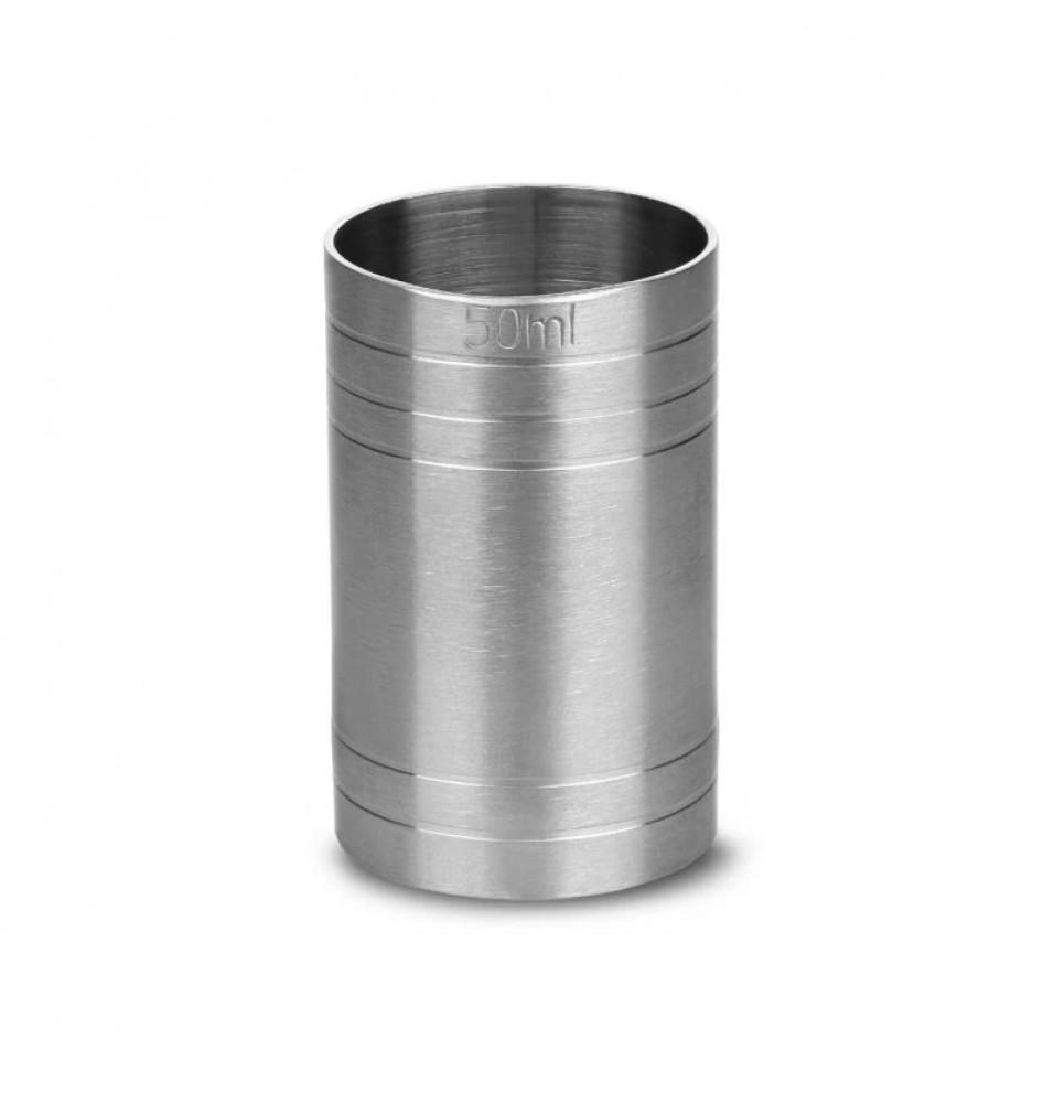 Masura alcool, capacitate 50ml, inox, diametru 37mm