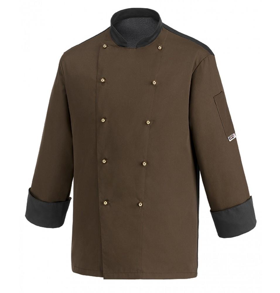 Tunica bucatar pentru barbati, maneca lunga, culoare maro, marime XL
