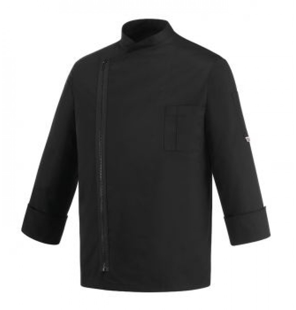 Tunica bucatar pentru barbati -cu fermoar, maneca lunga, culoare neagra, marime S