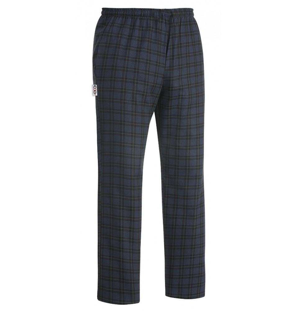 Pantaloni bucatar, model Tartan, realizati din 100% bumbac, marime L