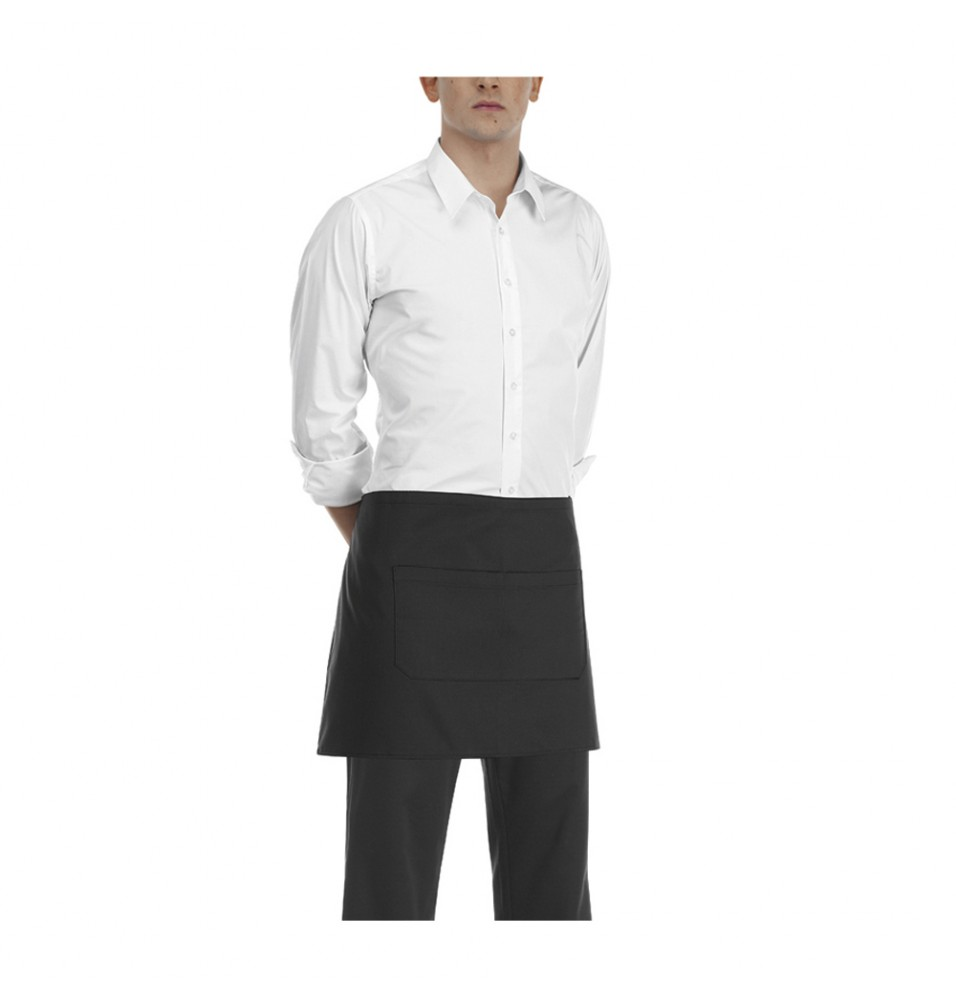 Sort barman, poliester si bumbac, culoare neagra, dimensiuni 400x700mm
