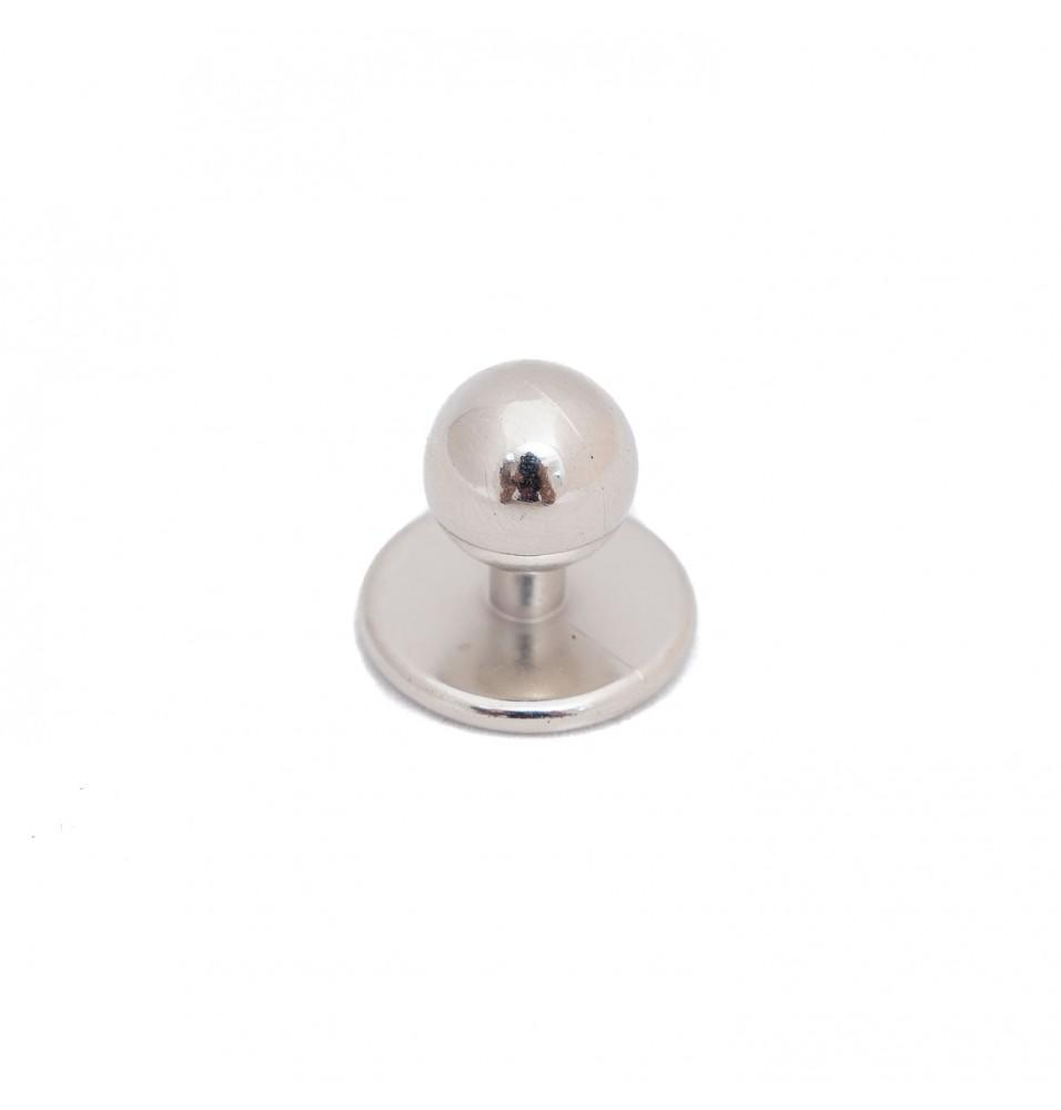 Set 12 butoni pentru tunici, argintiu