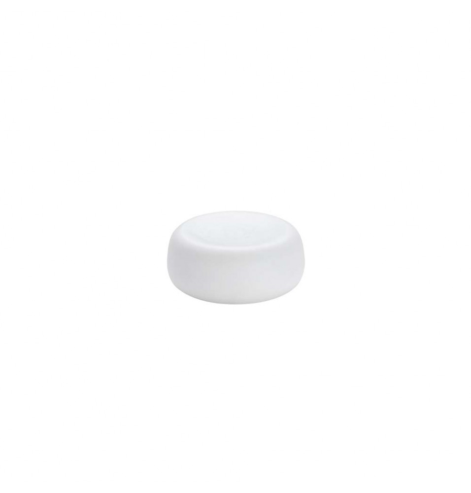 Platou rotund, portelan alb, dimensiuni 130x30mm