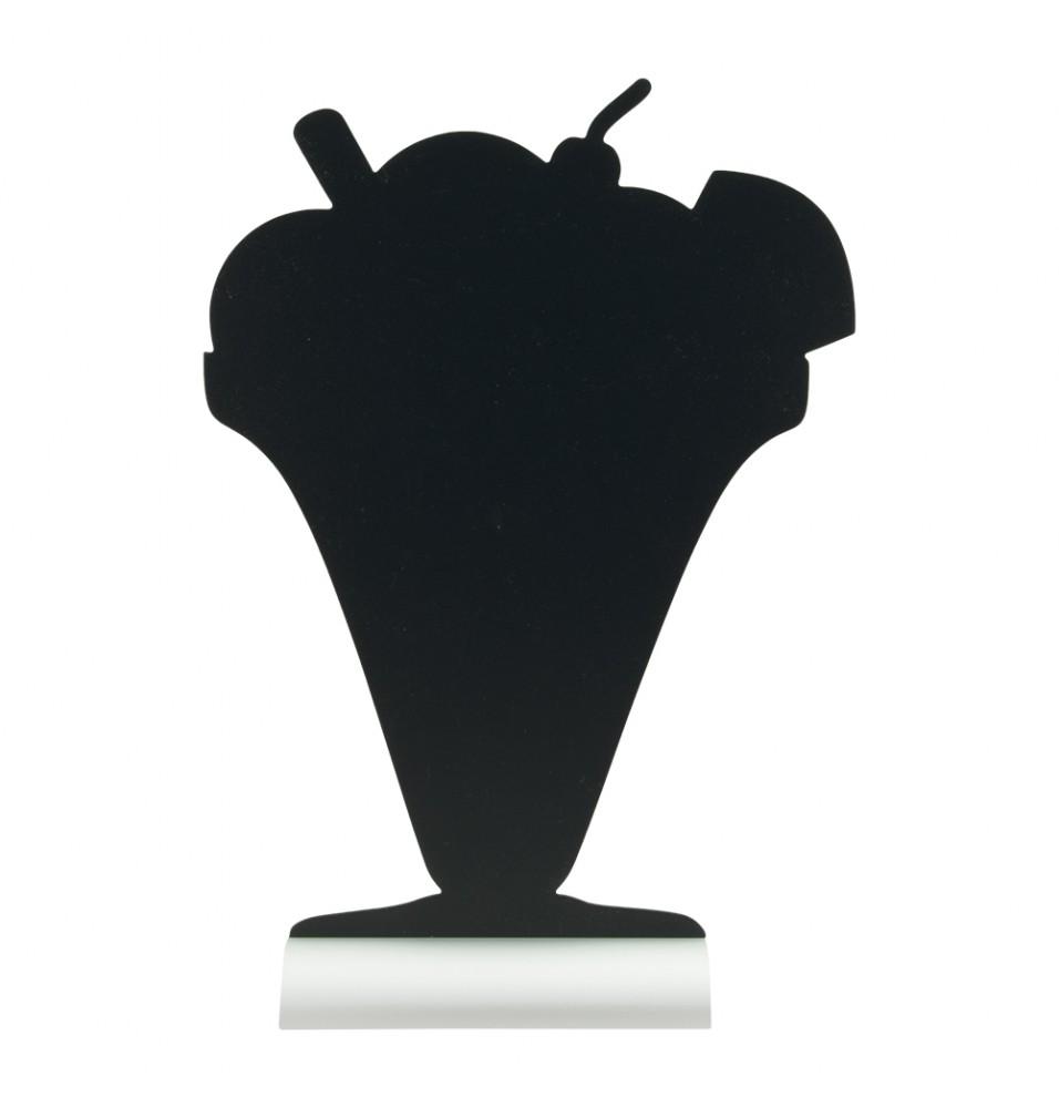 Tabla neagra forma cupa inghetata+marker