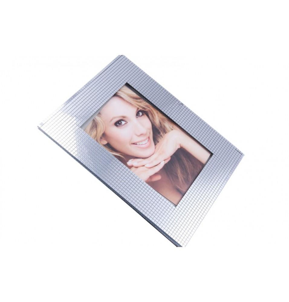 Rama foto, cu suport, culoare argintie, dimensiune 9x13 cm
