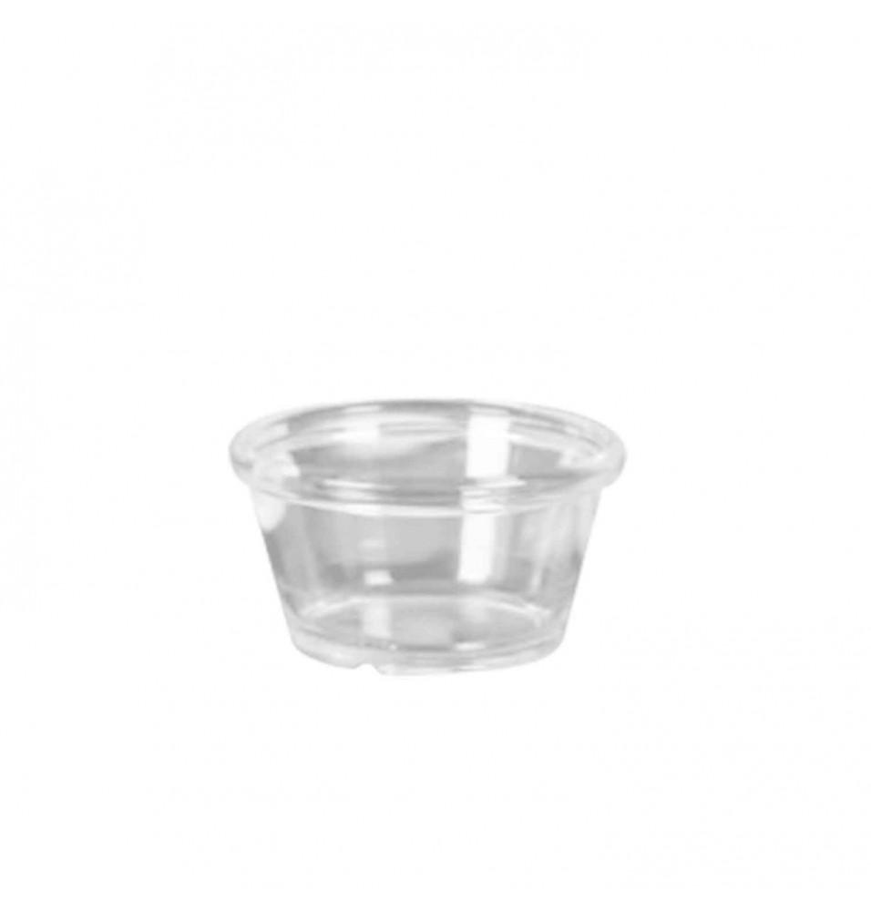 Vas Ramekin din polietilena, transparent, diametru 60mm, inaltime 35 mm