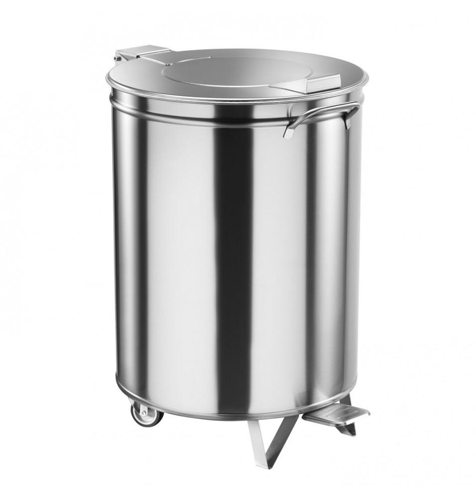 Pubela, inox, capacitate 95 litri, diametru 450 mm, inaltime 685mm