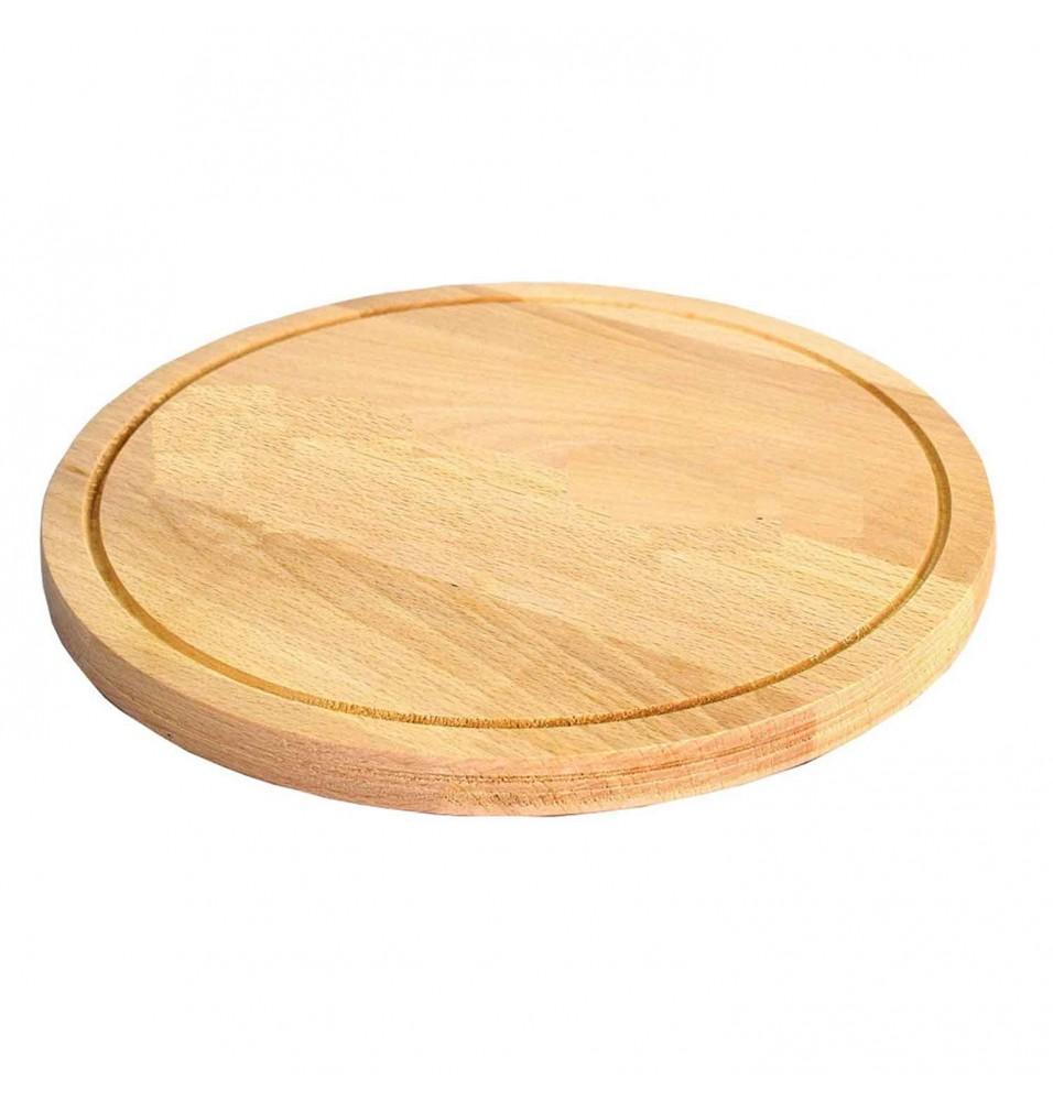 Tocator rotund bucatarie, din lemn, dimensiune 30cm