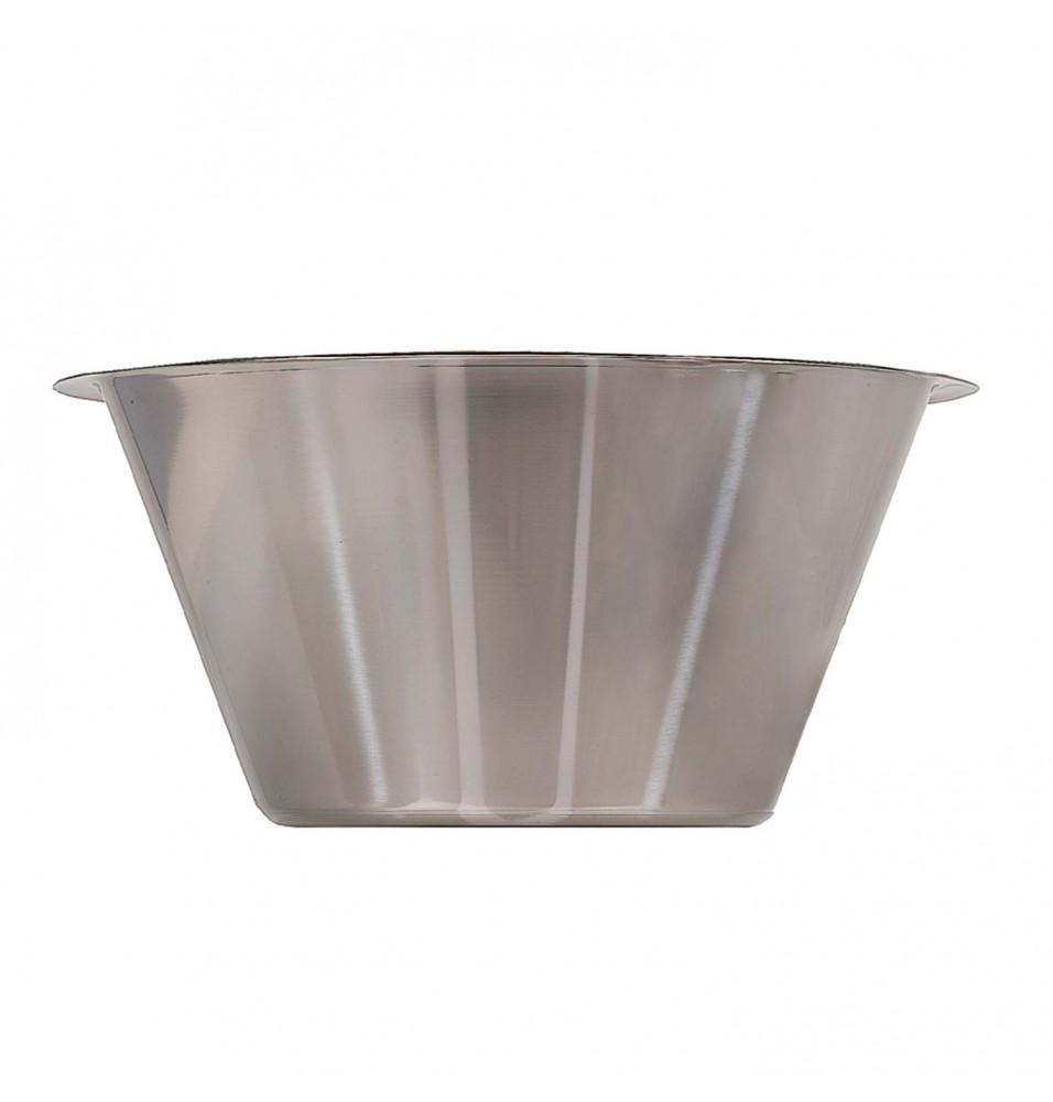 Castron conic inalt, inox, capacitate 4 litri, diametru 270mm, inaltime 135mm