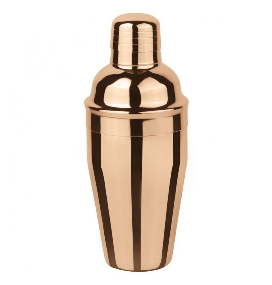 Shaker din inox capacitate 500 ml, culoare aramie, diametru 87 mm