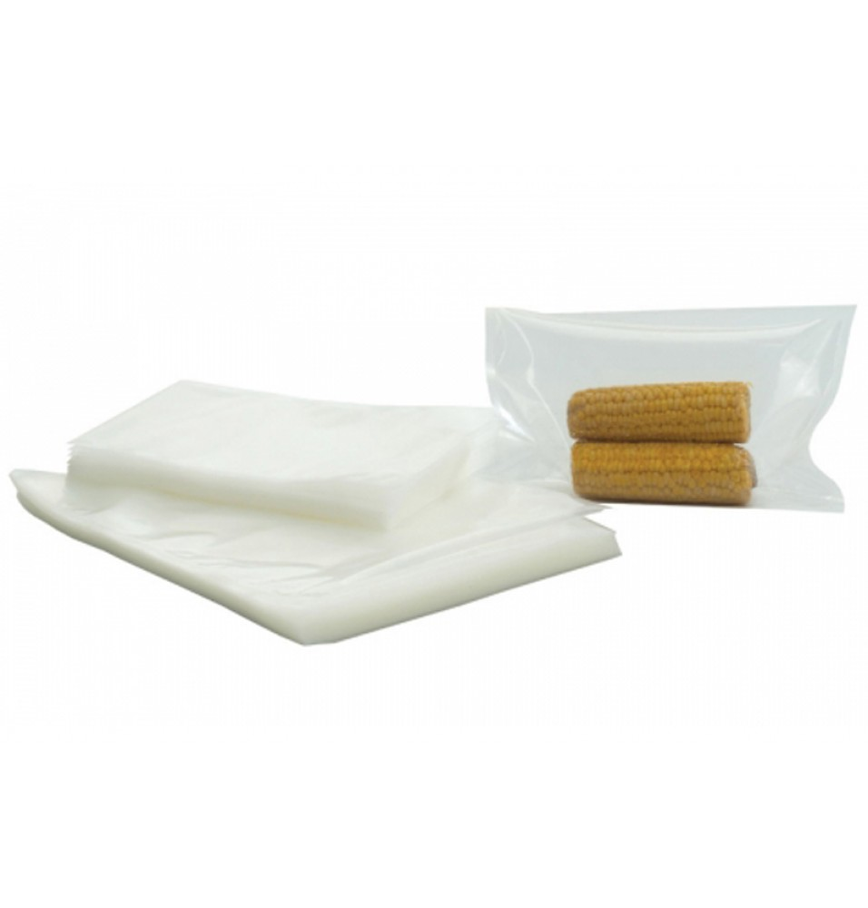 Set 100 pungi netede, pentru vidat alimente, grosime 90 microni, dimensiuni 250x350mm