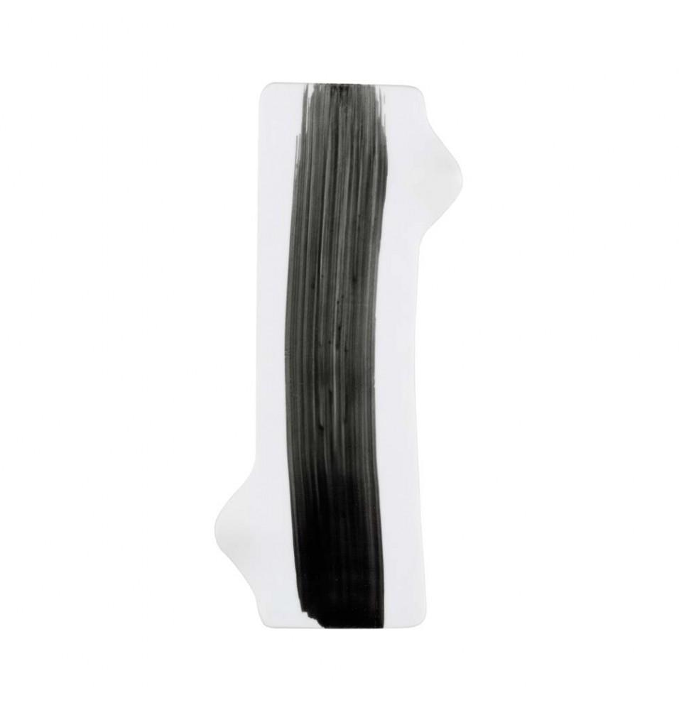 Platou, portelan alb+negru, dimensiuni 260x80mm