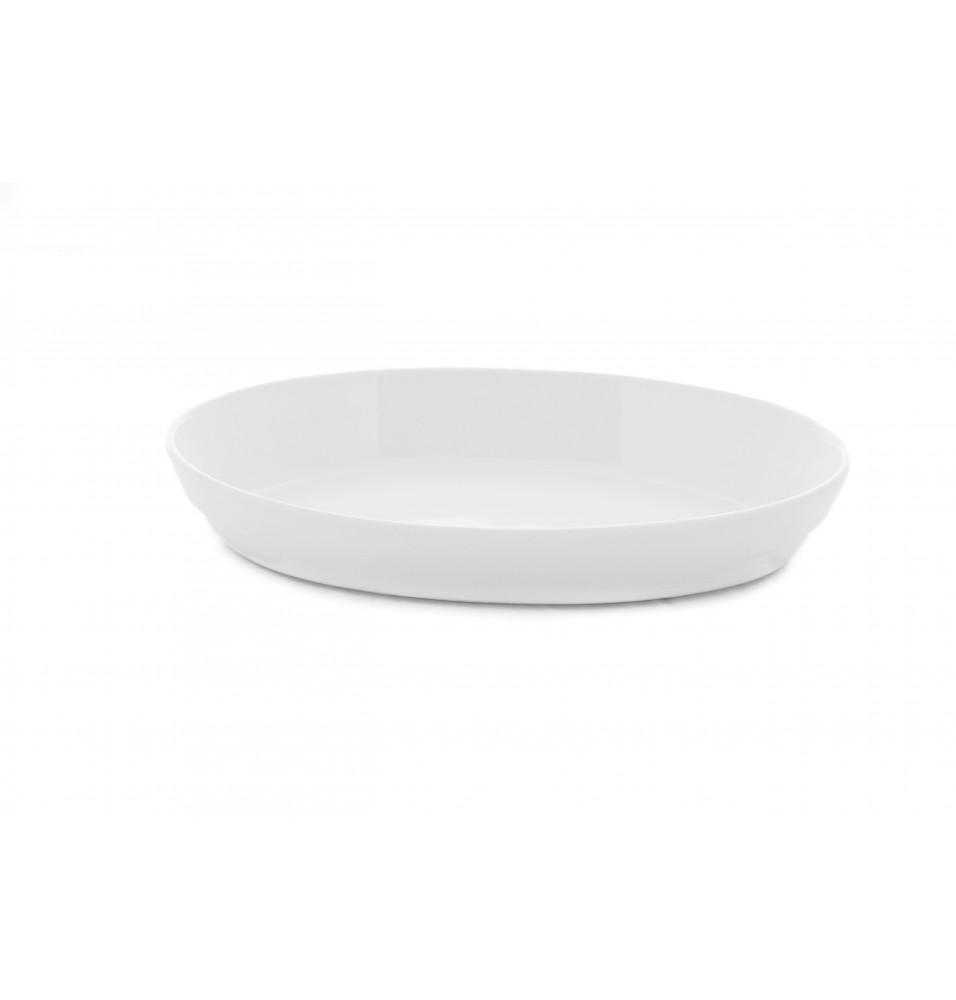 Platou oval din portelan alb 360x220mm