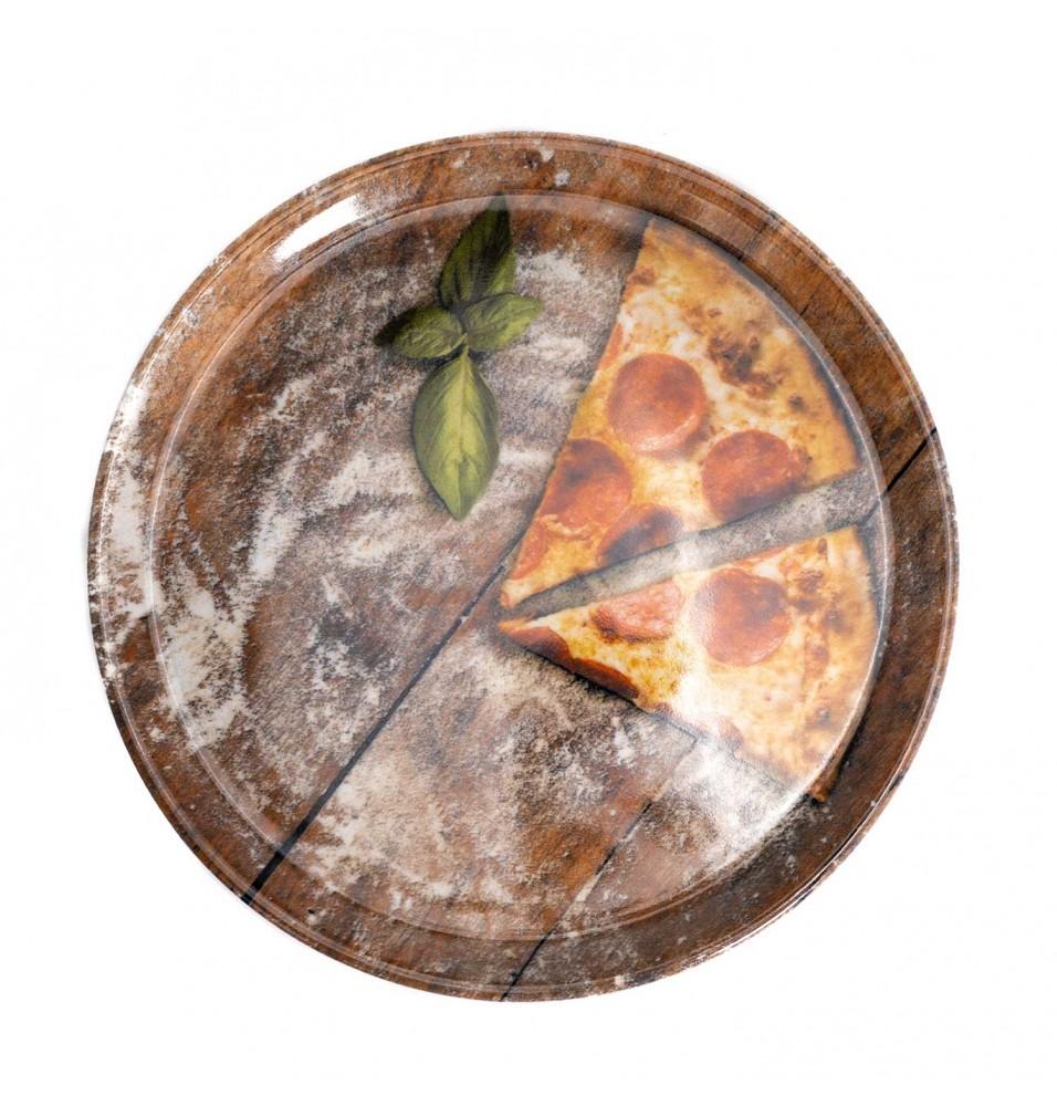 Farfurie pentru pizza diametru 310mm, model Flour Slice, portelan