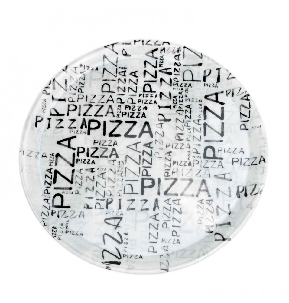 Farfurie pentru pizza diametru 310mm, model White&Black, portelan