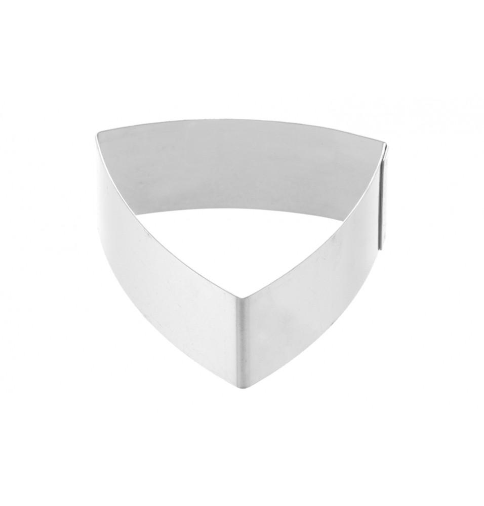 Forma triunghi convex pentru patiserie, fabricata din inox, dimensiune 70mm x 30h mm
