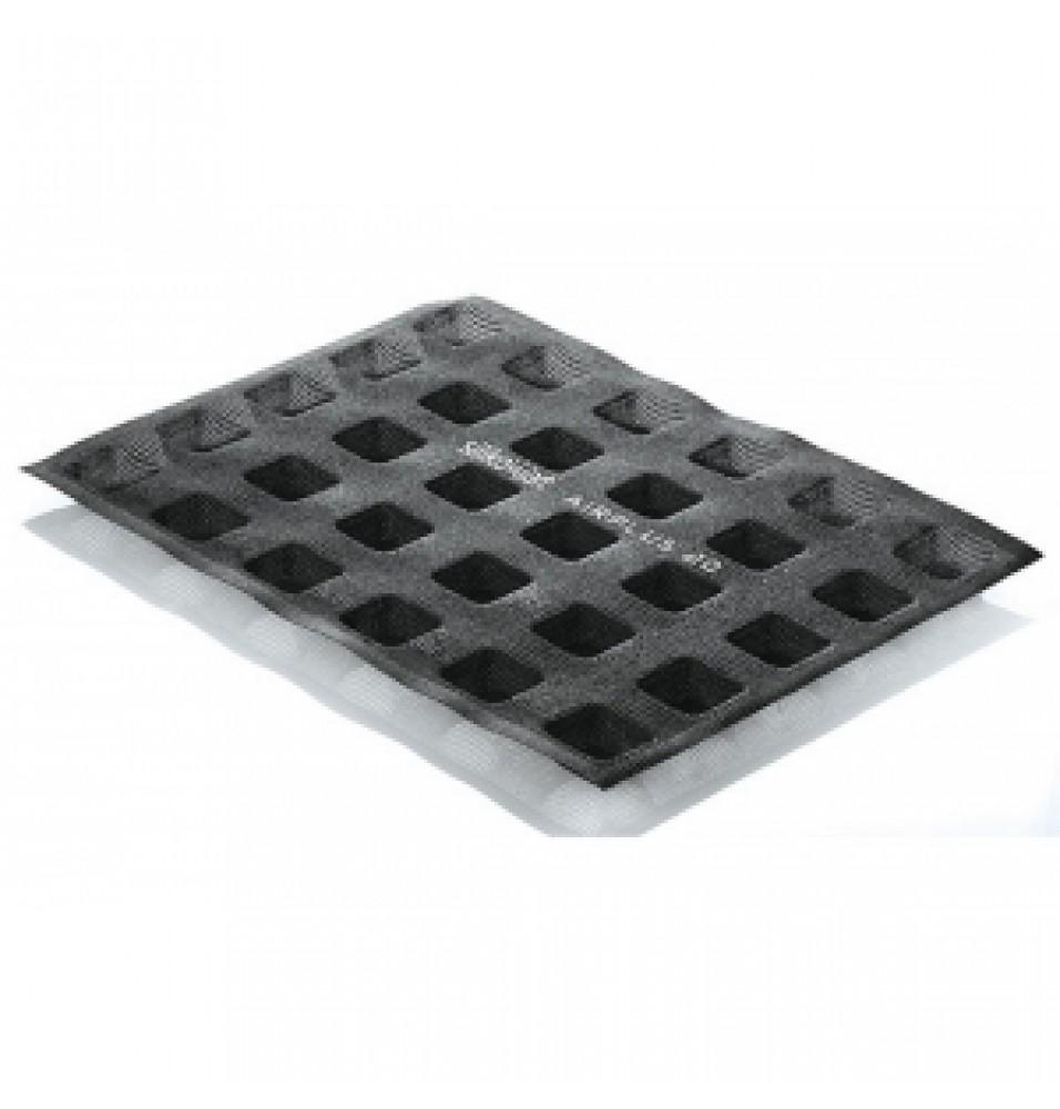 Set Air Plus 20 -forma din fibra de sticla, model Square, culoare neagra, temperatura de lucru -40grC/+230grC