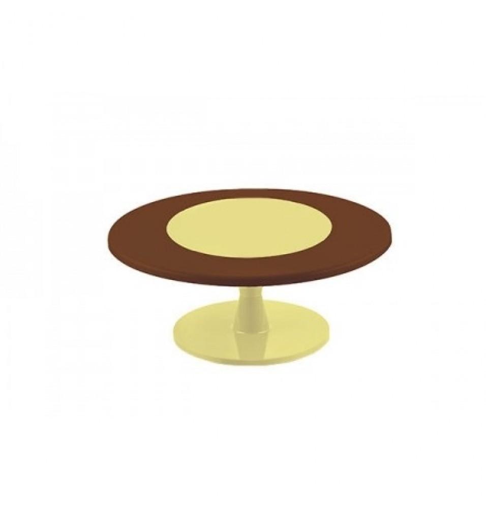 Suport prajituri, din policarbonat, diametru 350 mm, culoare maro