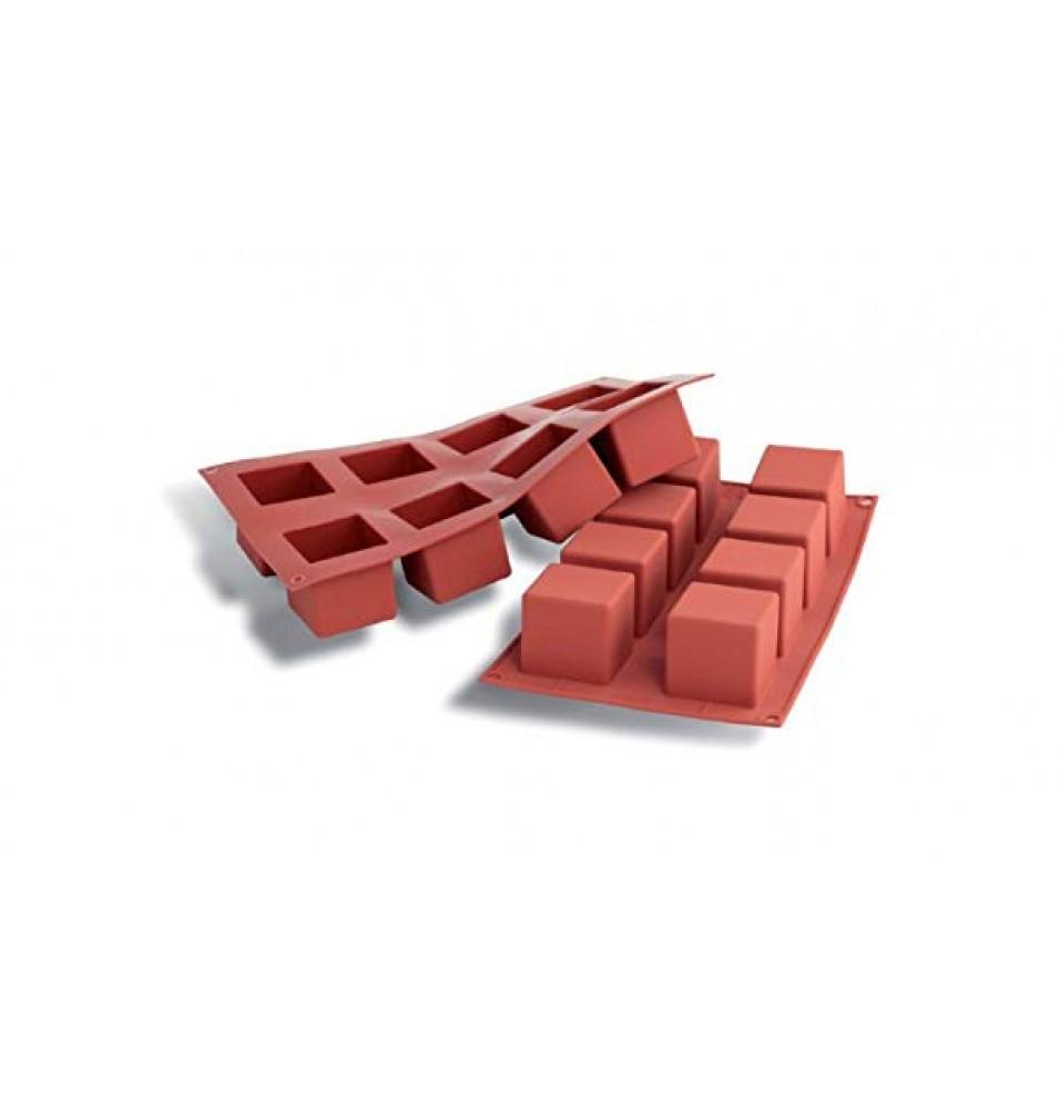 Forma silicon model CUBE, capacitate compartiment 125ml, dimensiuni compartiment 50x50x50 mm