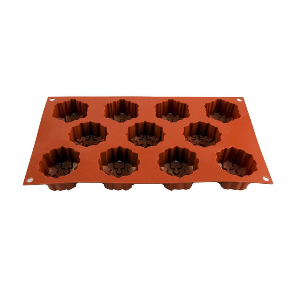 Forma din silicon pentru 11 prajituri Snowflakes cu diametrul de 56mm