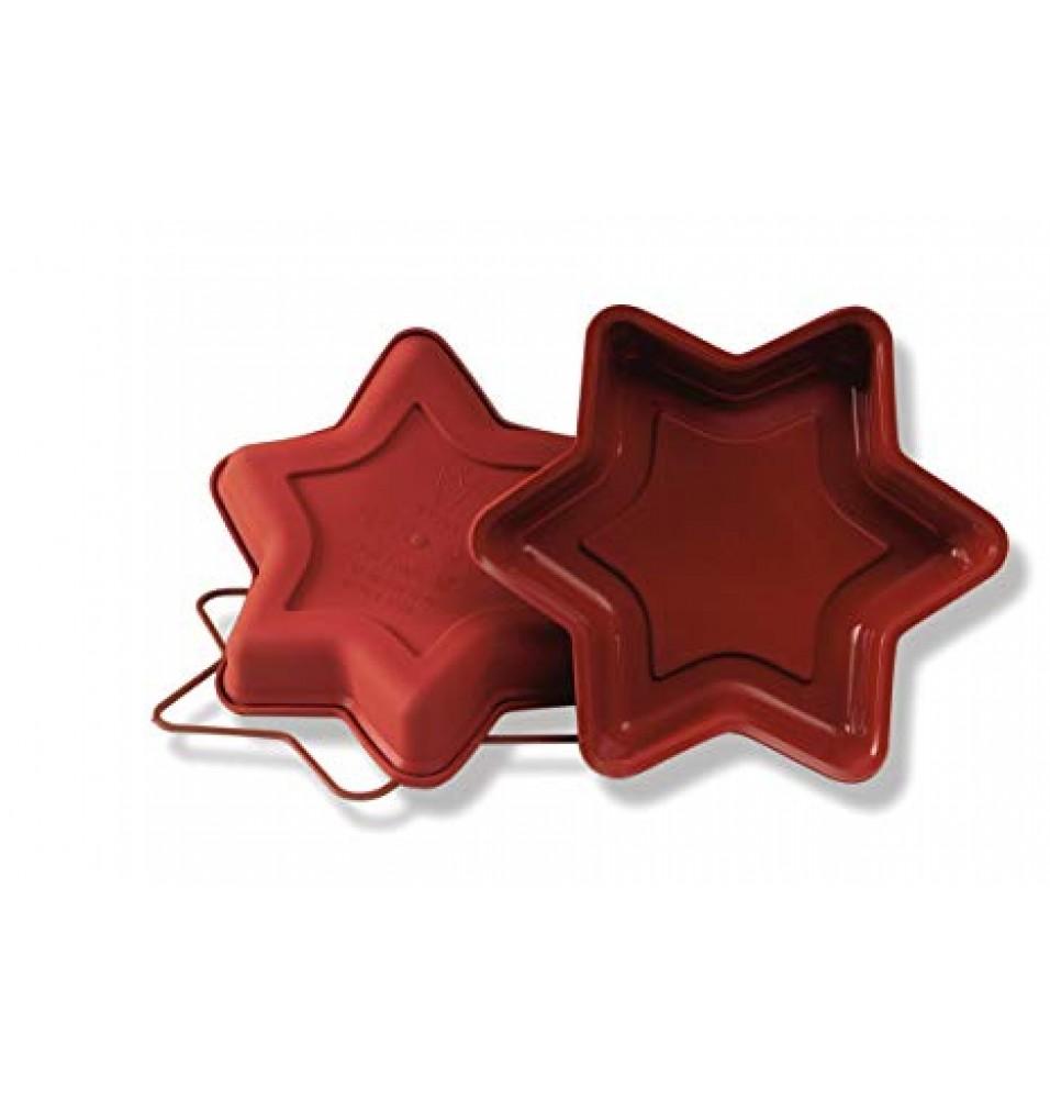 Forma Small Star, silicon de culoare rosie