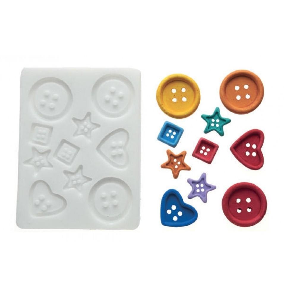 Forma silicon Buttons, dimensiune maxima compartiment 31x31mm