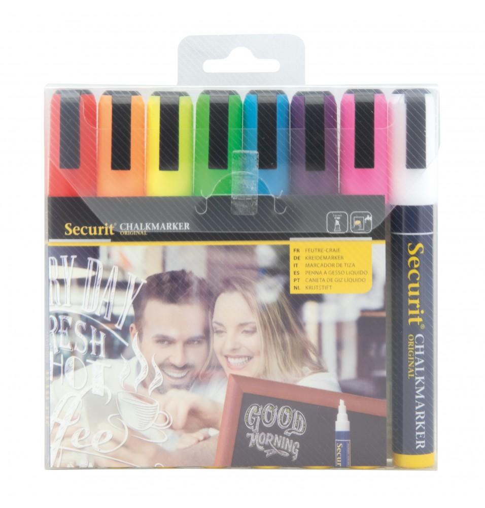 Set 8 markere 2-6mm -culori diferite