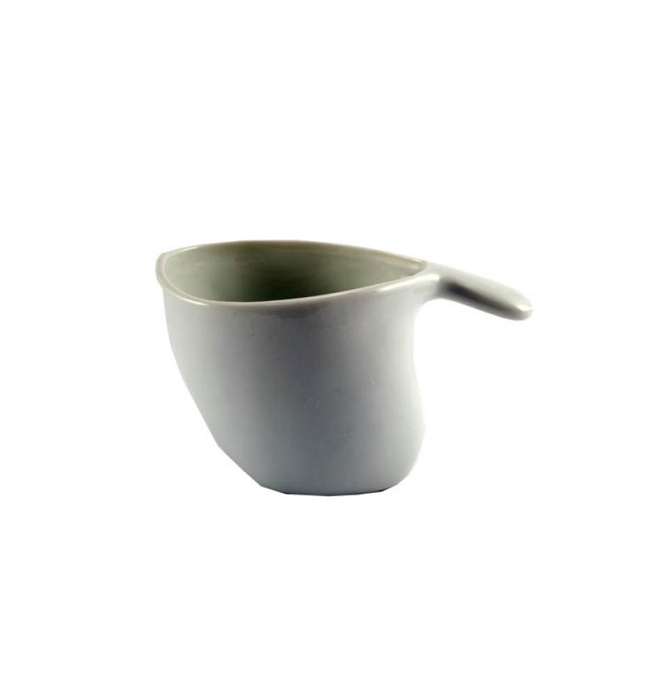 Latiera, ceramica, culoare alba, dimensiuni 15.5x8.5x9.5 cm