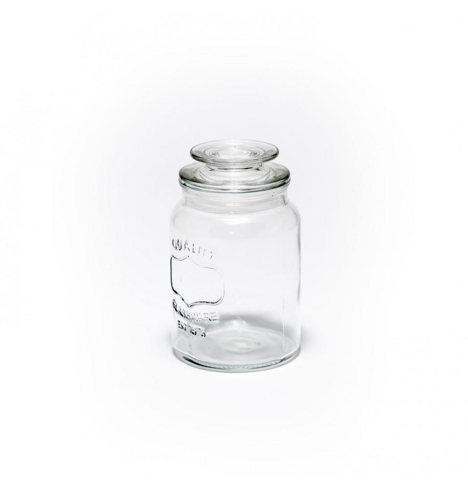 Borcan sticla cu capac, dimensiune 120XH205mm