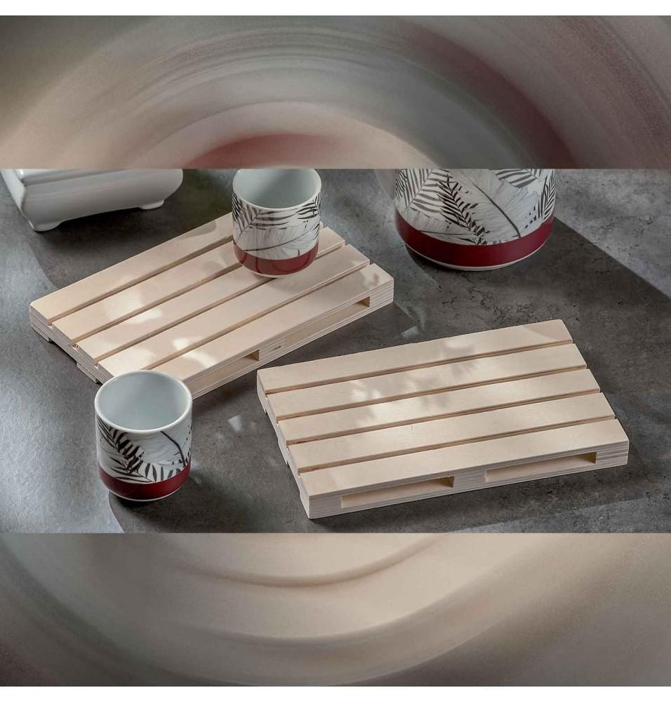 Set 2 tavi lemn, model palet 20x12 cm